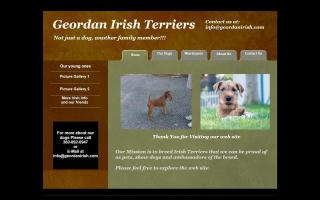 Geordan Irish Terriers