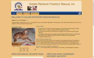 Golden Retriever Freedom Rescue - GRFR