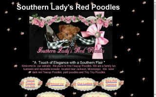 Southern Lady's Red Poodles