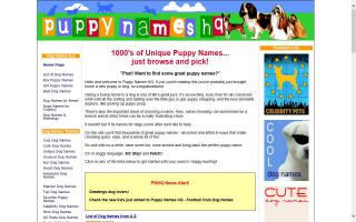 Puppy Names HQ