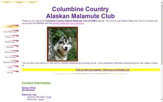 Columbine Country Alaskan Malamute Club - CCAMC