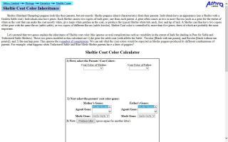 Athro Genetics and Sheltie Coat Calculator