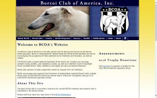 Borzoi Club of America, Inc. - BCOA