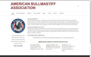 American Bullmastiff Association - ABA