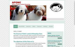 American Polish Lowland Sheepdog Club - APONC