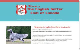 English Setter Club of Canada - ESCC
