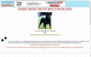 Dorn Roschen Rottweilers