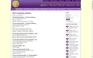 Afghan Hound Club of America, Inc. - AHCA