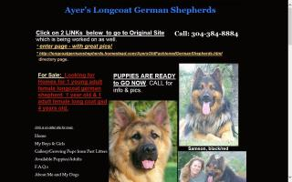 Ayer's Long Coat German Shepherds