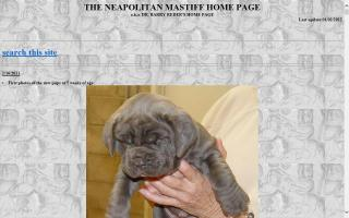 Neapolitan Mastiff Home Page, The