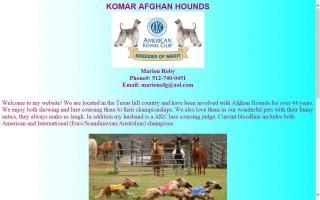 Komar Afghan Hounds