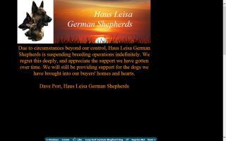 Haus Leisa German Shepherds