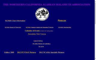 Northern California Alaskan Malamute Association - NCAMA