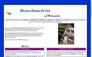 Alaskan Malamute Club of Wisconsin - AMCW