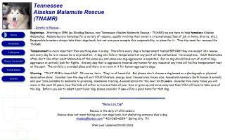 Tennessee Alaskan Malamute Rescue - TNAMR