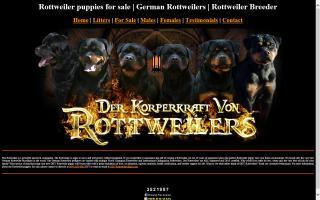 Der Korperkraft Von Rottweilers