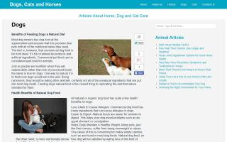Dogs, Cats and Horses